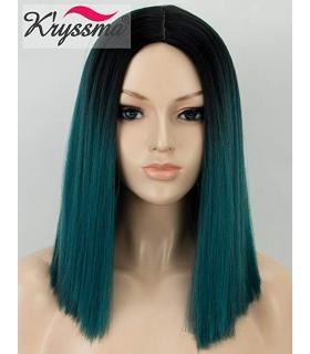 کلاه گیس زنانه کریزما صاف متوسط Kryssma Synthetic Wig for Women