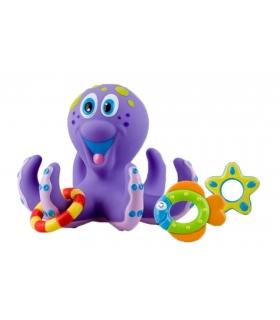 عروسک حمام بنفش نابی مدل اختاپوس Nuby Octopus ID 6144 Doll Bath