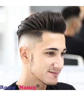 کلاه گیس مردانه رسی اند نانسی مدل تکه ای Rossy&Nancy Human Hair Toupee Black