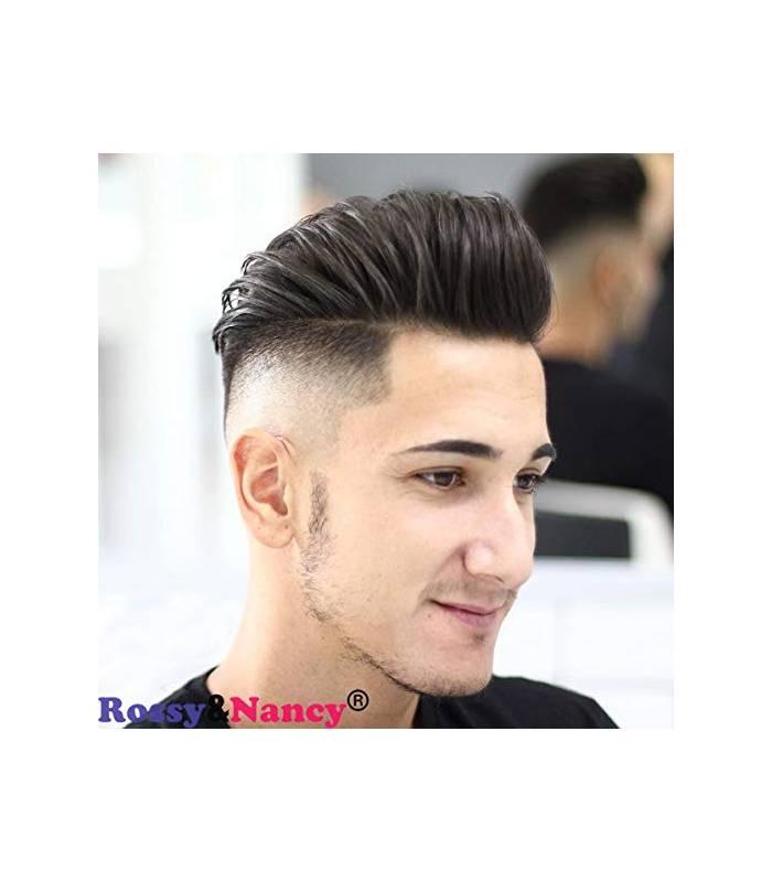 کلاه گیس مردانه رسی اند نانسی مدل تکه ای Rossy&Nancy Human Hair Toupee Black |