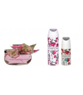 ست عطر زنانه امپر شیفون به همراه اسپری و رول ضدتعریق Emper Chifon Gift Set For Women