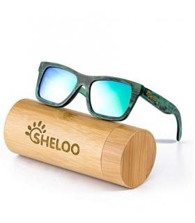 عینک آفتابی زنانه و مردانه شلو چوب بامبو Sheloo Bamboo Wood Sunglasses For Men and Women