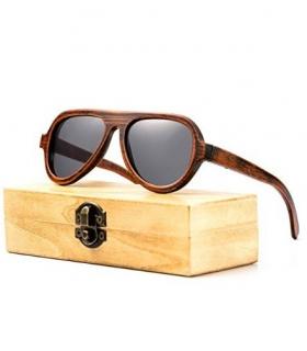 عینک آفتابی زنانه و مردانه شلو چوبی Sheloo Bamboo Wood Sunglasses For Men and Women