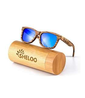 عینک آفتابی مردانه و زنانه شلو Sheloo Bamboo Wood Sunglasses For Men and Women