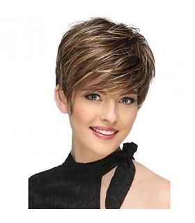 کلاه گیس زنانه لجیمی کوتاه و حالت دار به همراه کلاه طاسی LEJIMEI Short Synthetic Hair Wigs for Women