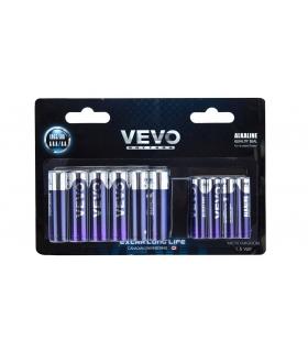 باتری قلمی و نیم قلمی آلکالاین ویوو بسته 20 عددی VEVO Alkaline LR03 LR6 AAA And AA Battery