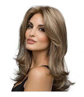 کلاه گیس زنانه ایسینسر 22 مدل فرفری بلند قهوه ای ISincere 22 Brown Long Curly Synthetic Hair Wig for women