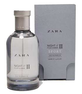 عطر و ادکلن مردانه زارا نایت پور هوم 2 اسپرت Zara Night Pour Homme II Sport For Men