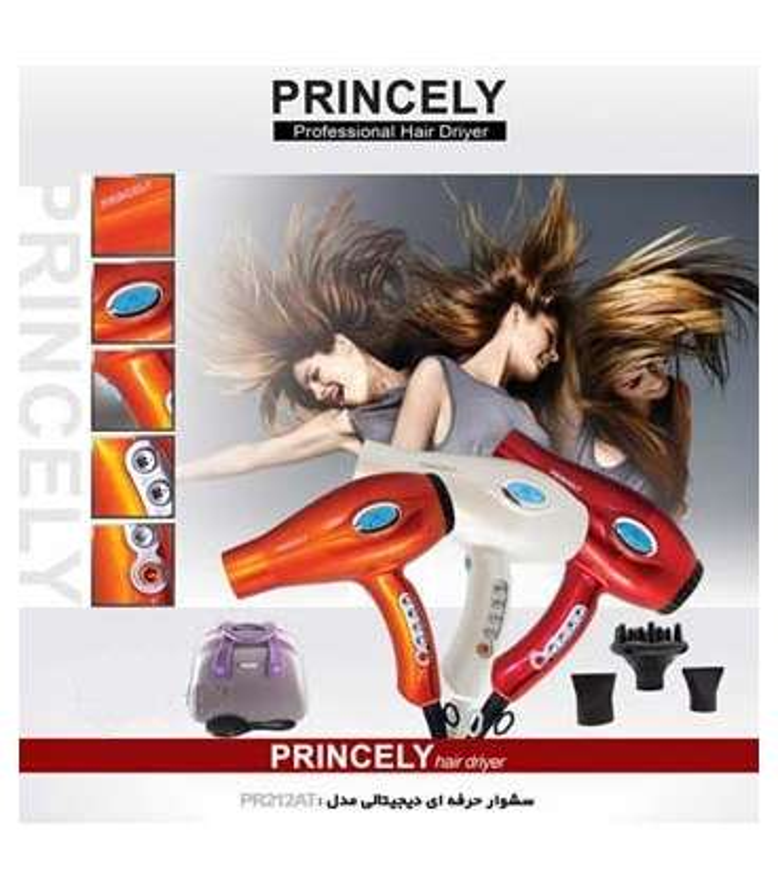 سشوار دیجیتال پرنسلی Princely Dryer PR212AT