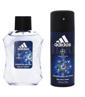 ست عطر و ادکلن مردانه آدیداس یو ای فا چمپیین ال ای ای جی ای Adidas Uefa Champion Leage EDT Set For Men