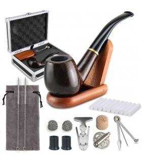 ست پیپ جویولدلف همراه کلیه لوازم جانبی Joyoldelf Wooden Tobacco Smoking Pipe Set XX025