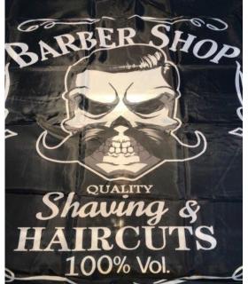 پیشبند آرایشگری طرح اسکلت با سبیل Hair Cutting barber Mustache
