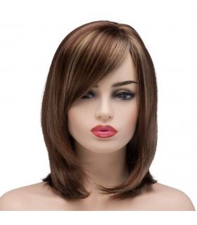 کلاه گیس زنانه کوتاه قهوه ای روشن Bestung Short Mixed Color Hair Wigs