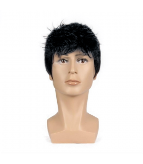 کلاه گیس مردانه کوتاه مشکی و جو گندمی Men Short Black & Gray Wig