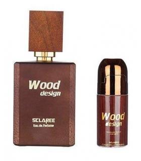 ست عطر و رول ضد تعریق مردانه اسکلاره وود دیزاین Sclaree Wood Design Gift Set For Men