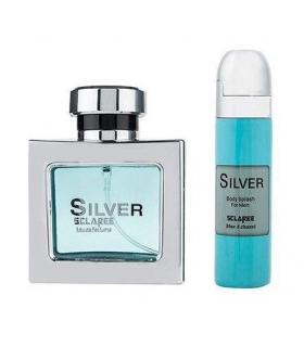 ست عطر و اسپری خوشبو کننده مردانه اسکلاره سیلور Sclaree Silver For Men
