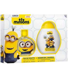 ست عطر و شامپو کودک ایر وال منیون 2 ادو تویلت Air-Val Minions 2 EDT Gift Set For Children