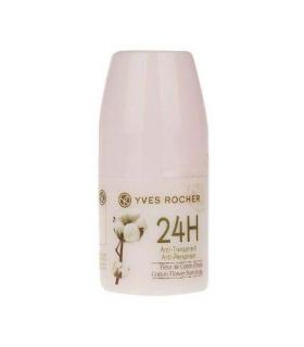دئودورانت ضد تعریق گل پنبه ایوروشه Yves Rocher 24H Anti Perspirant India Cotton Flower